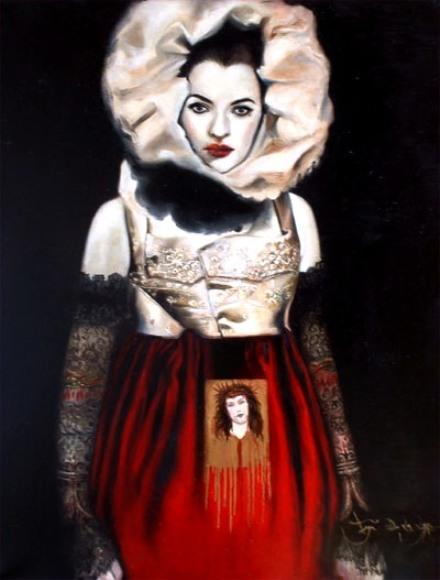 Art Studio Nov 22, 2008 Rose Gabriel De La Lyre 2000 The Untouchable ~ Selfportrait. Internationally published in the Visionary Art Year Book 2010 - 2011