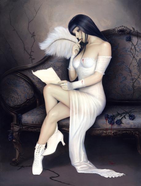 U.S.A Nov 23, 2008 Lorenzo Sperlonga Airbrush Painting The Last Letter