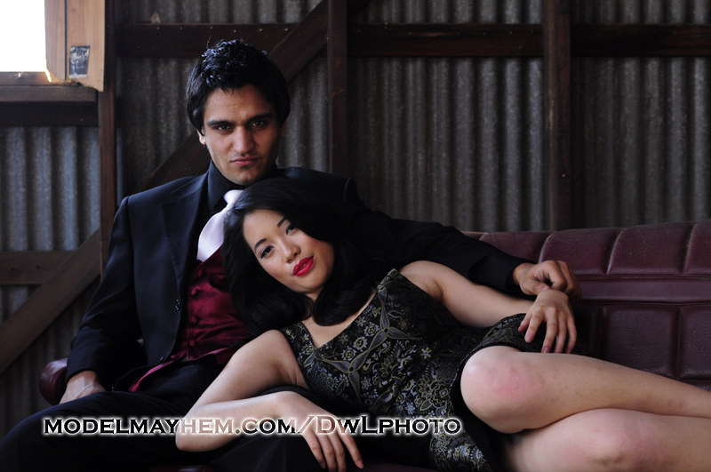Male and Female model photo shoot of DwLPhoto, ZeeK and YingHua, makeup by Makeup Fantasies