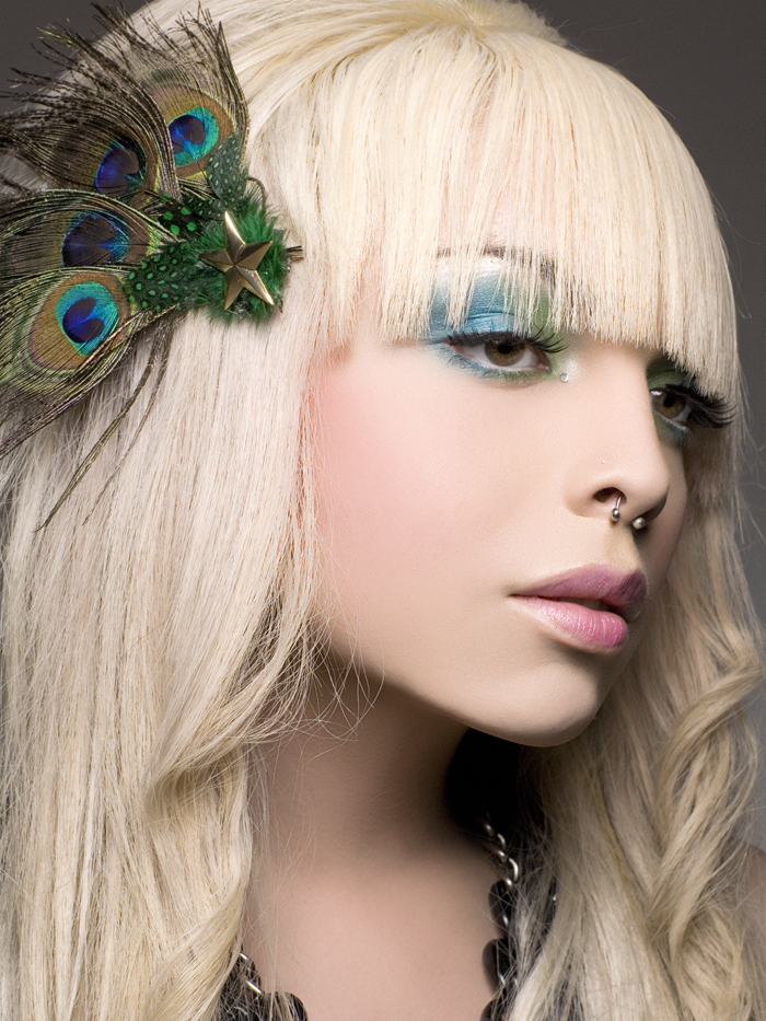 mkc academy, los angeles Nov 24, 2008 Hair,Makeup, & Hair accessory by me