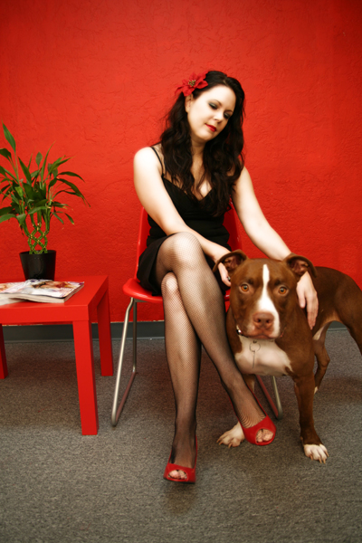 Nov 29, 2008 Adrienne Orilla Photography Pinup & Pitbull