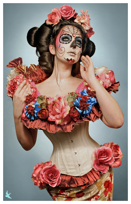 Nov 29, 2008 Dia de los Muertos Spring!  Photo/Hair/Costume: Gayla of 666.  MUA/Model: Me!