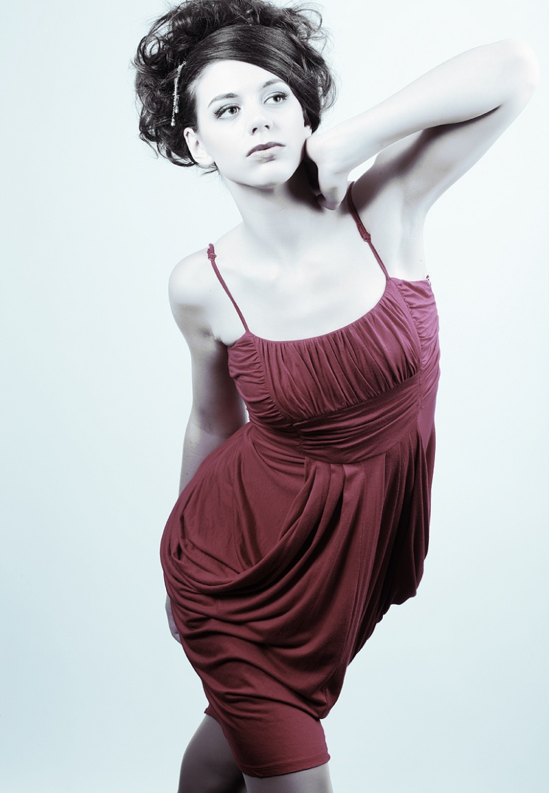 Female model photo shoot of Kayla Annalise, makeup by Sable Lee Makeup hair