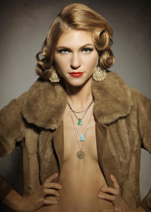 PDX Dec 02, 2008 Enko Jewelry Campaign shoot www.betsyandiya.com, Hair by Jen LaMastra