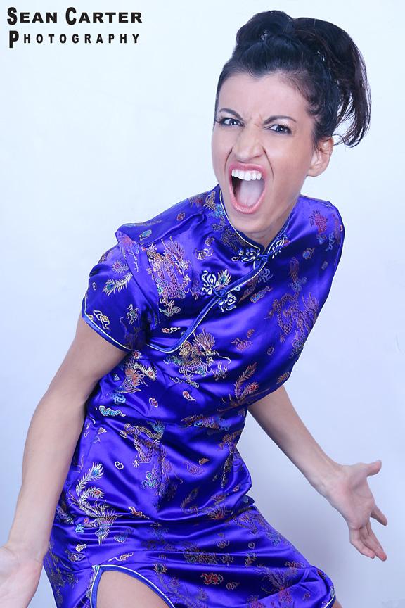 Female model photo shoot of Anita Menotti by Sean Carter Photography in NY, NY, makeup by Samantha Lennon Makeup