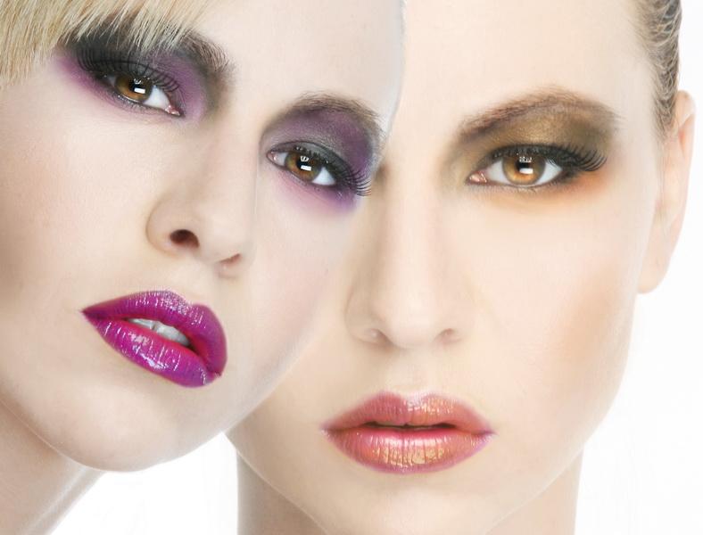 my studio Costa Mesa CA Dec 06, 2008 phillip ritchie two faces of  the beautiful  Amanda  , makeup artist Rachel