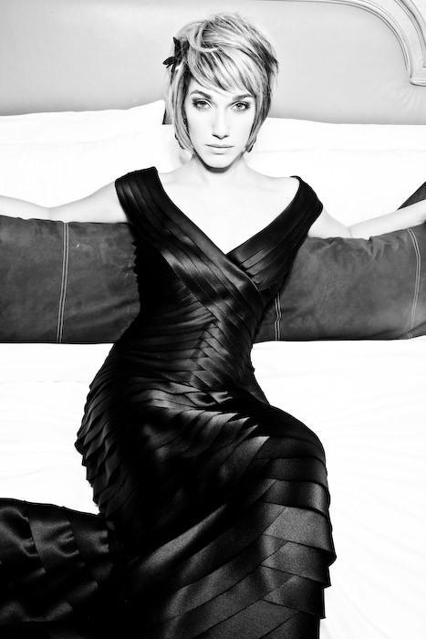 Female model photo shoot of Rachel Mitchell by Adam Hendershott in Las Vegas Nevada MGM Grand Terrace Suite