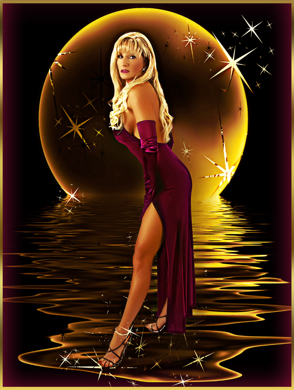 Rick Vergara Photography Studio Dec 09, 2008 The Golden Touch Modeling  Moon Light Walk