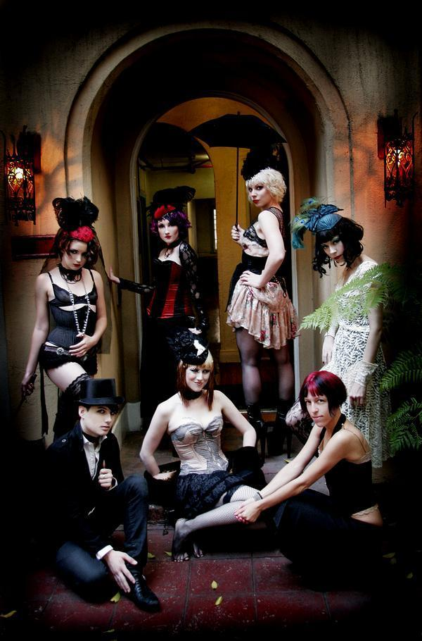 Hollywood Dec 10, 2008 Violet Photography Glam Lush Hat Shoot for Gothic Beauty Magazine