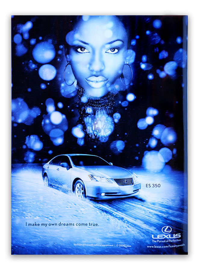 somewhere behind the ice cream truck in Lot B Dec 10, 2008 bt / Lexus bt style + kn beauty = inclusion in Lexus print ads and billboards.