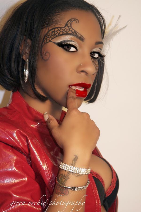 Female model photo shoot of KEEMA by  Lidia Byhower , makeup by IWillBeautifyU