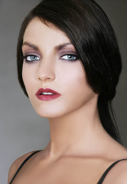 Female model photo shoot of Olga Levchenko and Anne Ka in Westchester, makeup by Jitka Kluglova