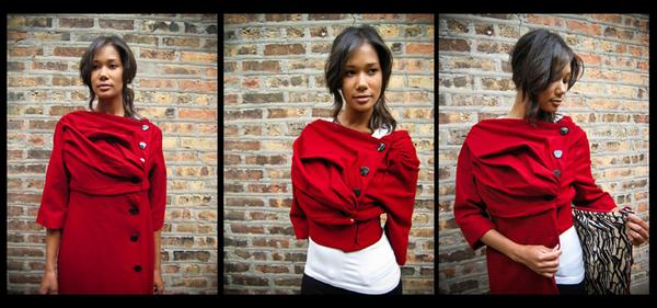 Chicago Dec 12, 2008 Anna Hovet Wool Convertible Jacket