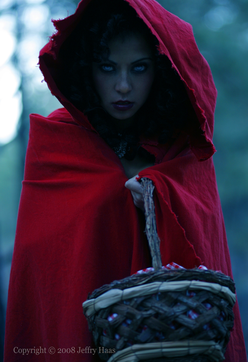 Pagosa Springs Dec 12, 2008 jeffry haas Evil little red ridding hood, looking for the big bad wolf!
