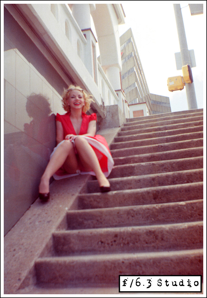 TX Dec 16, 2008 2007 Pete Lutz Stairway to...? (shot w/vintage Brownie Box Camera)