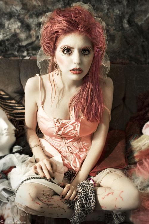 Female model photo shoot of Tara Kate and nefertara by Cannibalized in Boston