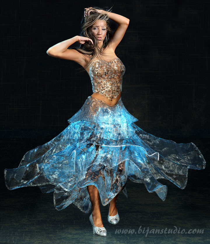 Dec 16, 2008 Bijan Studio Photography and ice dress design by me. Model: Nikki (not on MM)