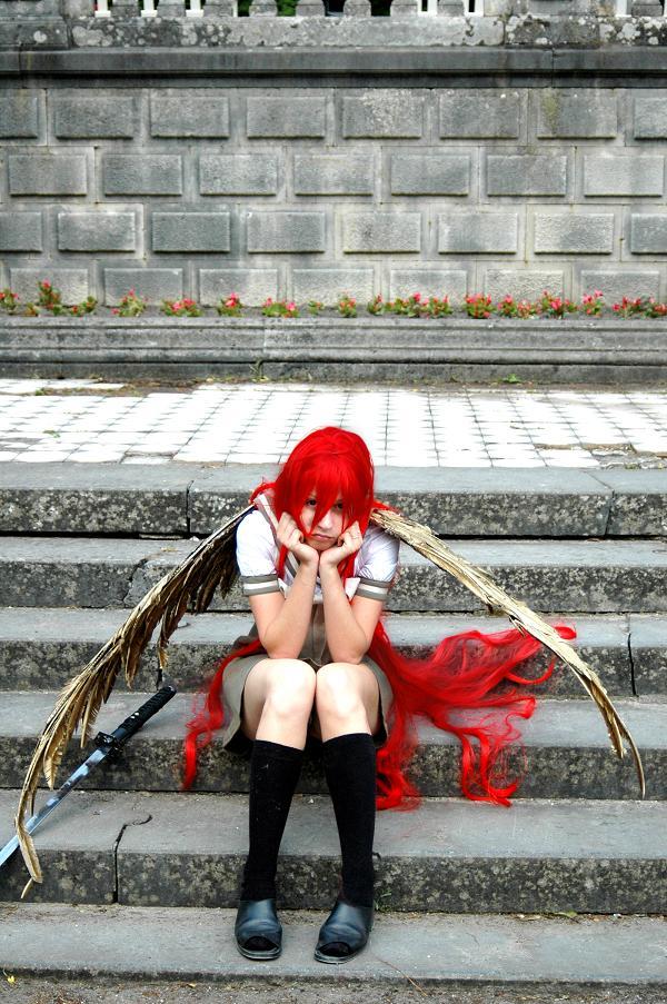 Den Haag, the Netherlands Dec 20, 2008 Themed photoshoot - anime girl