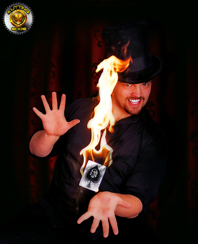 Riverdale, NY Dec 21, 2008 Kutting Edge Real fire, real magician!
