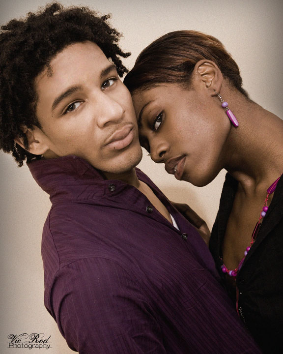 Male and Female model photo shoot of Vic Rod Photography, Jamall Evans and Tioni D