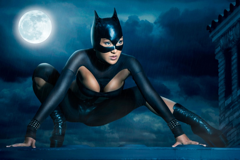 Mannheim/Germany Dec 25, 2008 Calvin Hollywood Photography Catwoman