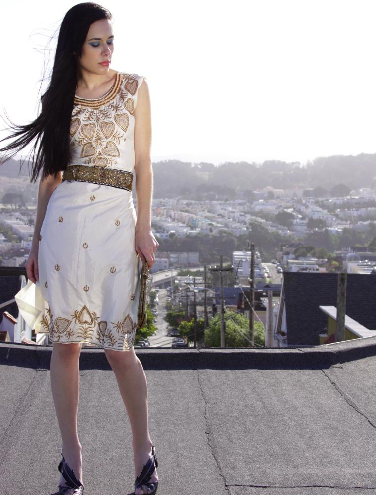 Bernal Heights, San Francisco Dec 29, 2008 Etc.Pantoufle/Brenda Armendariz Photography Recycled Beaded Tunic Dress