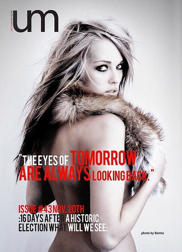 Dec 29, 2008 Beinta Haraldsen Back cover of Urban Mainstream Magazine, October 2008. Model: Malan Jensen.