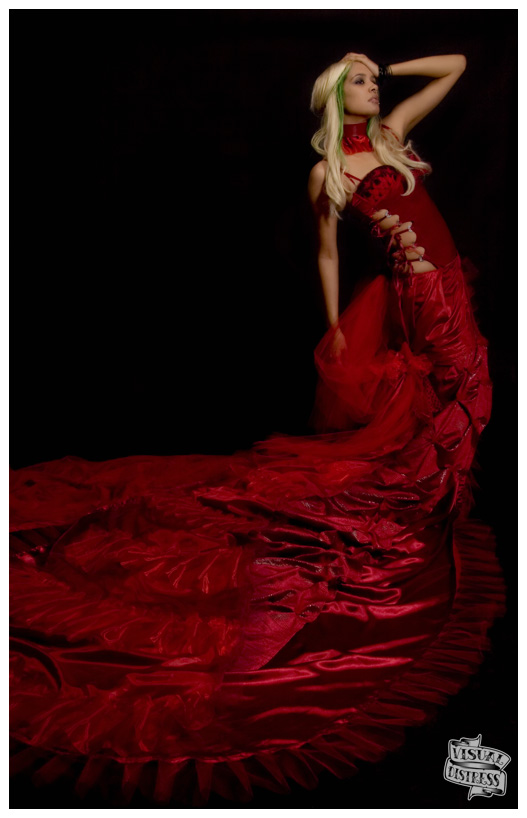 Primal Stare Studios Dec 30, 2008 visual distress, all rights reserved, all copyrights held Forest in custom red gown