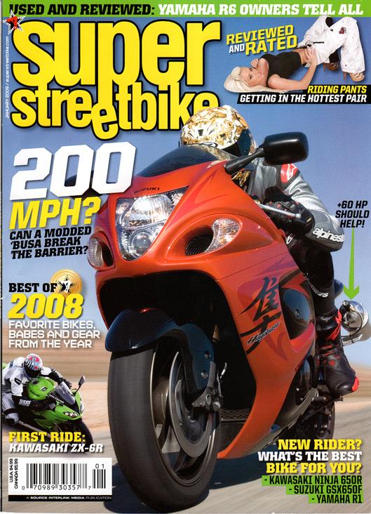 Studio - Los Angeles Jan 01, 2009 Super Streetbike Magazine Cover - Super Streetbike Magazine Jan 09
