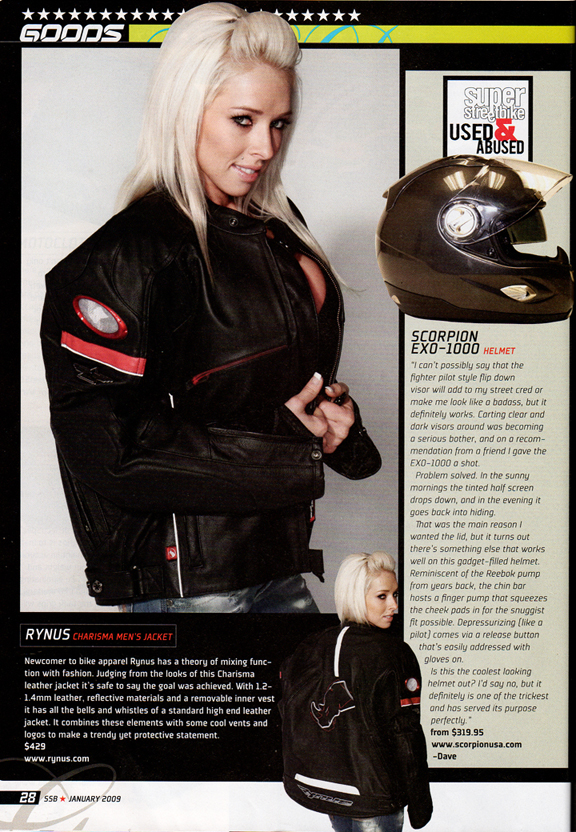 Studio - Los Angeles Jan 01, 2009 Super Streetbike Magazine Merch Feature - Super Streetbike Magazine (Jan 09)