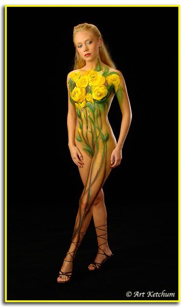 Chicago - Studio Jan 01, 2009 © Art Ketchum Yellow Rose..... Gretchen
