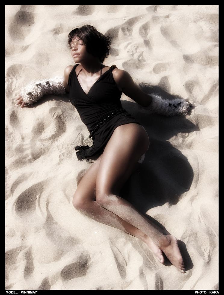 Male model photo shoot of KARAFACTORY in France - Atlantic beach