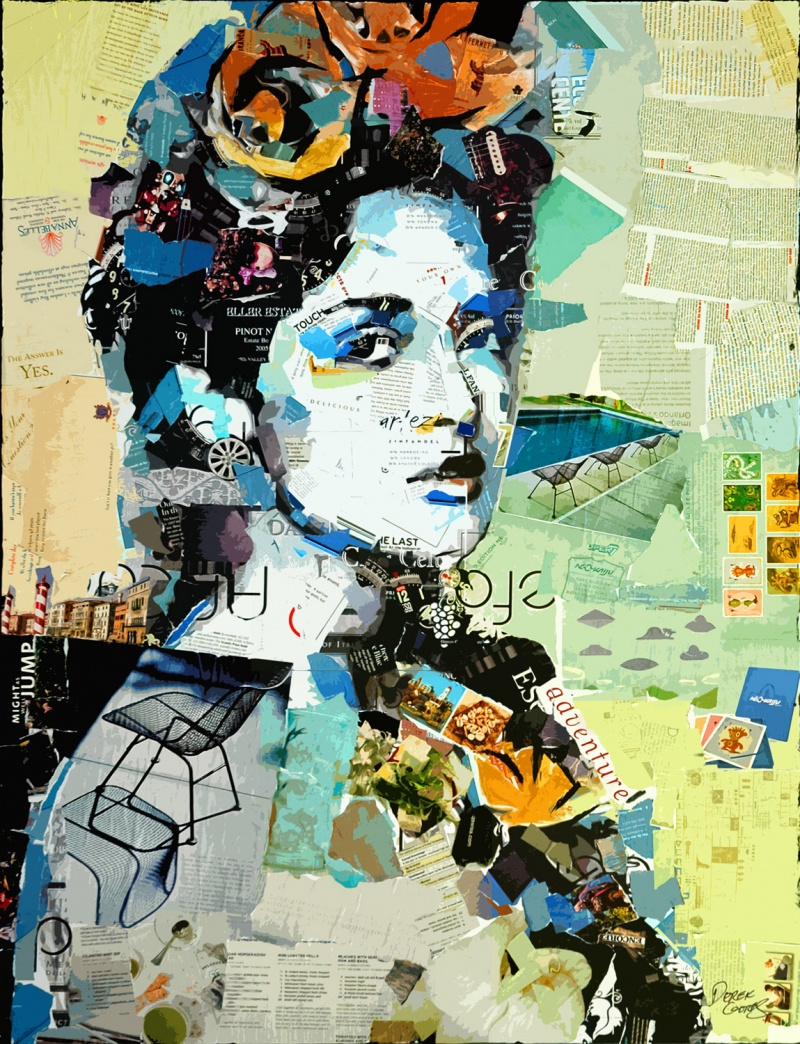Jan 04, 2009 2008 derek gores Salma and Frida, 30 x 40 collage on canvas