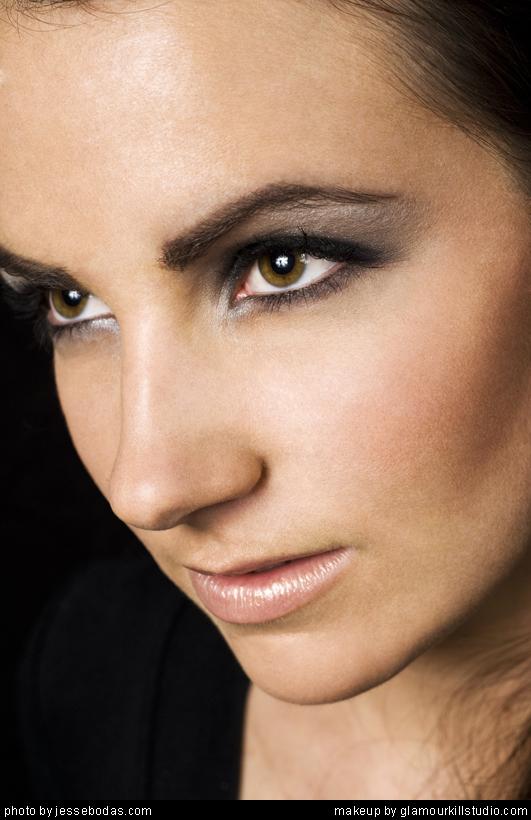 Female model photo shoot of ChelseyHill by Destroy Inc, makeup by Alisha L Baijounas
