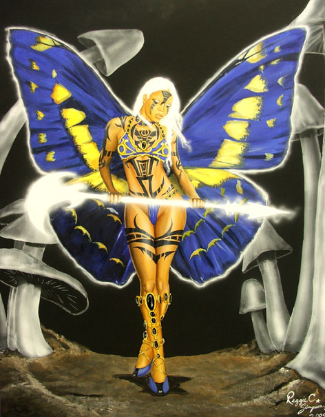 Jan 08, 2009 Reggie C. Simpson , Jr Butterfly Lady 4 - The Huntress - oils & acrylics