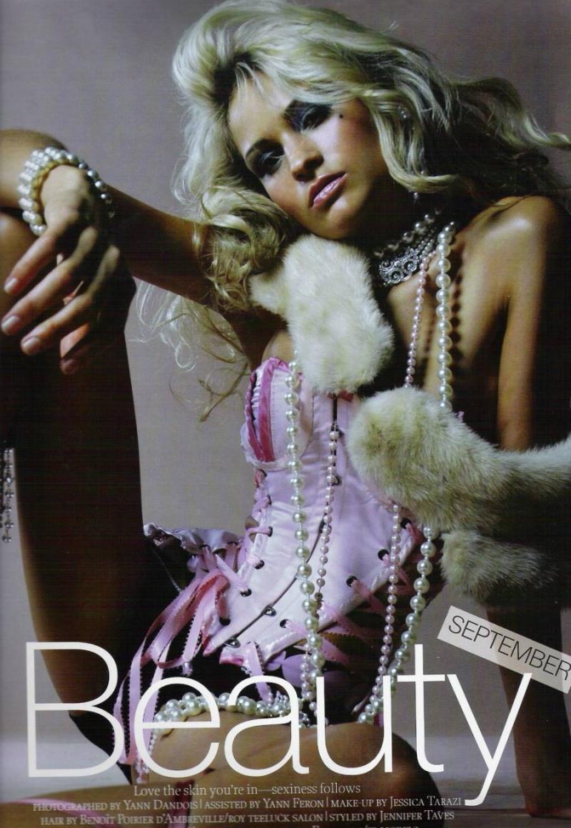 Jan 08, 2009 photographer Yann Dandois Pink Polka corset, Lucire Magazine