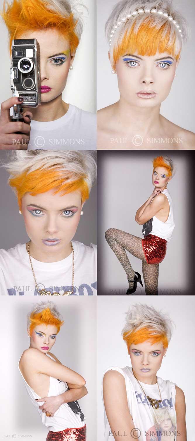 Male and Female model photo shoot of Paul HappyJack Simmons and Kat Atkinson in studio, makeup by Sian Faulkner MUA