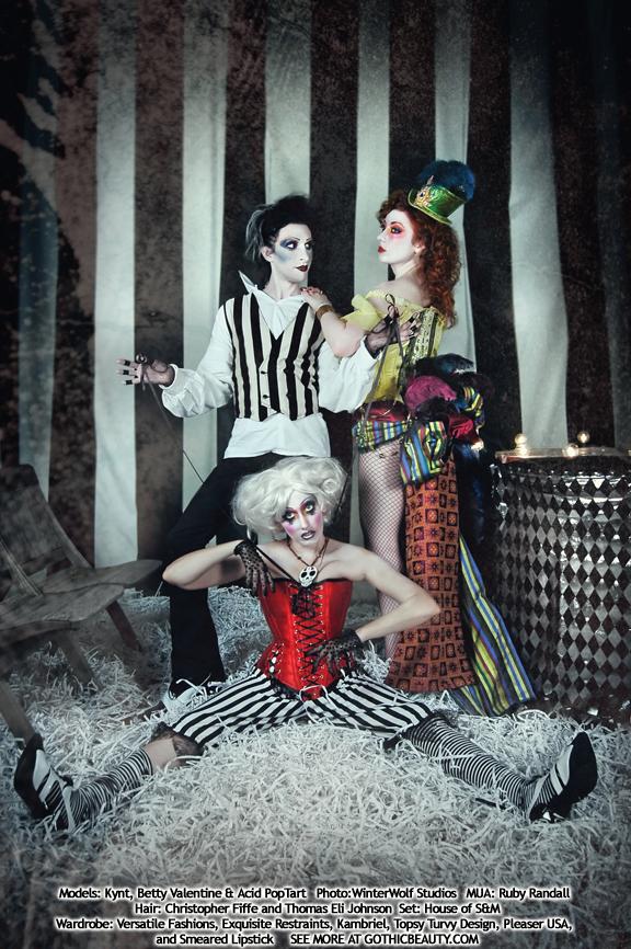 Studio Jan 12, 2009 Gothic Beauty Magazine/WinterWolf/Acid PopTart Misfit Menagerie (Sample from shoot done for Gothic Beauty Magazine issue 27, out now!)