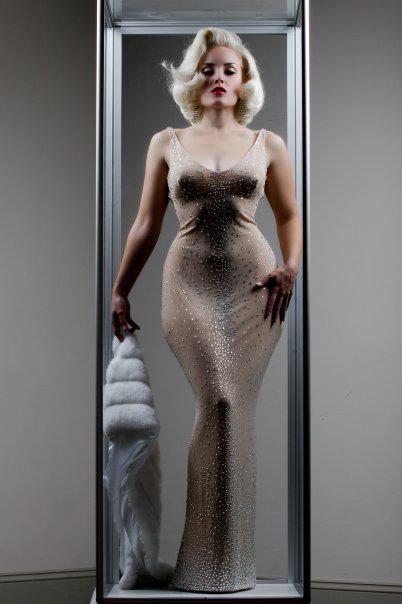 The Hollywood Museum (4th Floor)..Hollywood, CA Jan 14, 2009 Gown MADE by Don-ya *Replica of Marilyn Monroes; $1.4 million, Happy Birthday gown