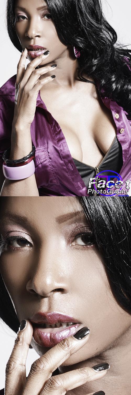 Female model photo shoot of INDIA DELACRUZ by Facet Studio, makeup by Nedra J