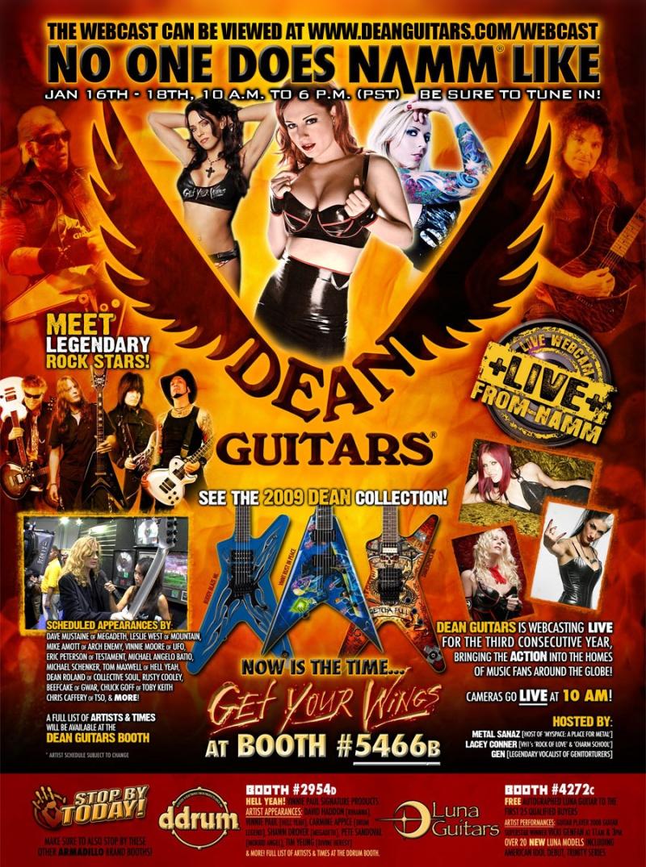 Anaheim, CA Jan 18, 2009 Dean Guitars Dean Guitars- NAMM 2009, Dean Girl