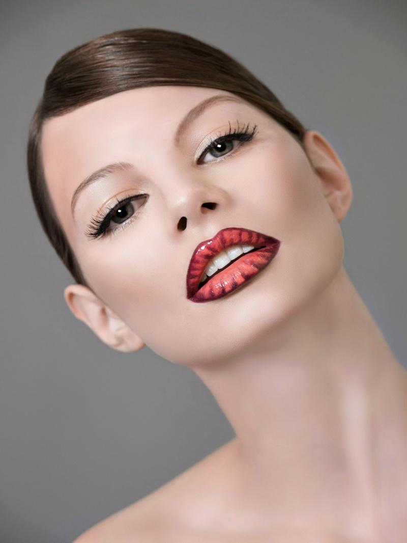 Female model photo shoot of karen  genetta in nyc, retouched by Ash PhotoArt, makeup by ErinMacMUFE