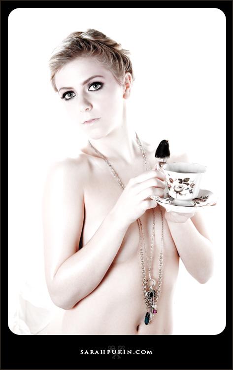 Female model photo shoot of Sarah Pukin  in hair stef b