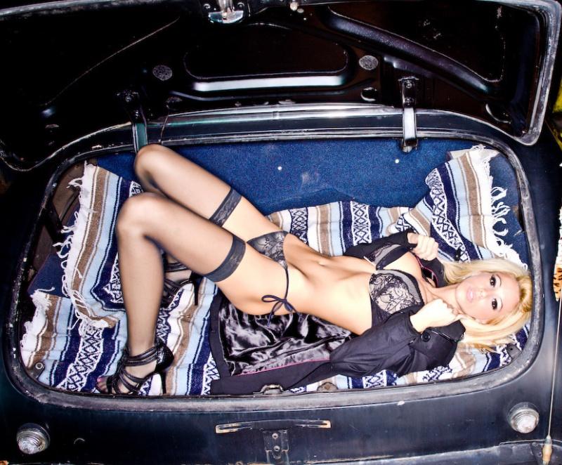 Trunk of a Hot Rod!!!! haha........ Jan 21, 2009 MUA/Hair/Wardrobe: Becky-B Kidnapped!!!!!!