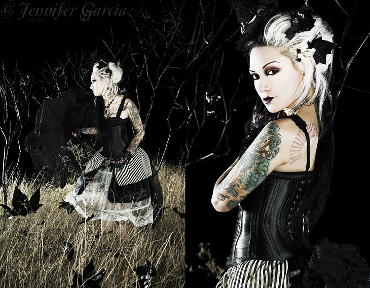 Jan 21, 2009 © Jennifer Garcia  model/mua/hair: Miss Rockwell Devil