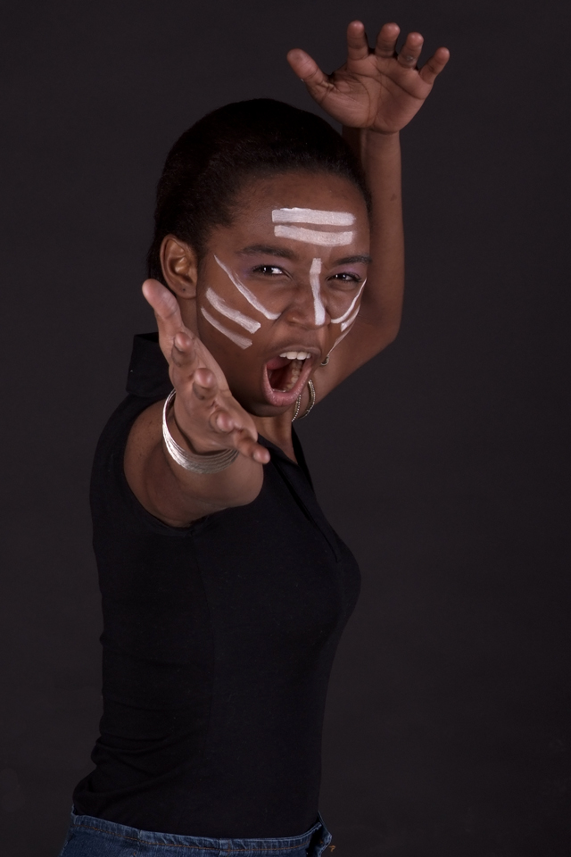 Female model photo shoot of Dominique Bella by Gaetan Allard in Studio Gall