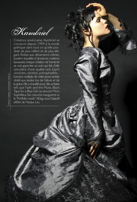 Jan 22, 2009 Nadya Lev/Kambriel Crystal Palace w/ Kambriel bio - for French Elegy Magazine (http://www.kambriel.com/elegy.html)