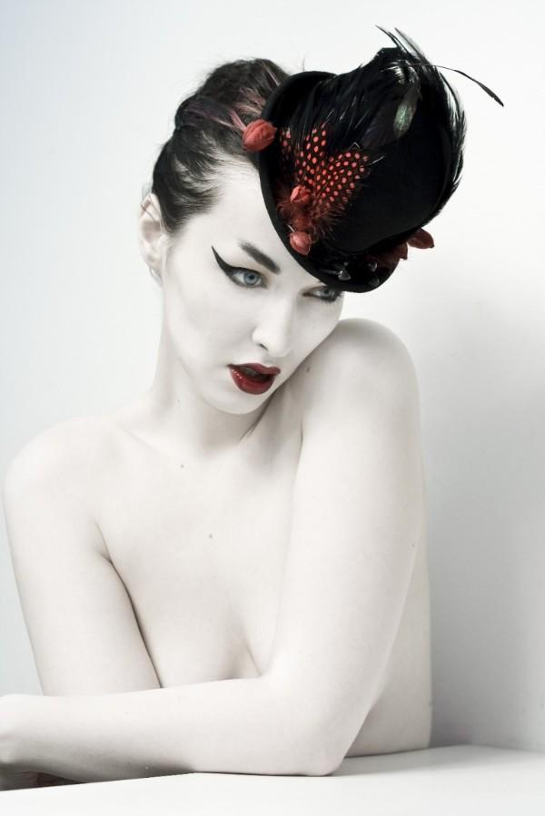 Jan 24, 2009 Model & Photography- the lovely Koneko Guinea feather and orchid bud top hat