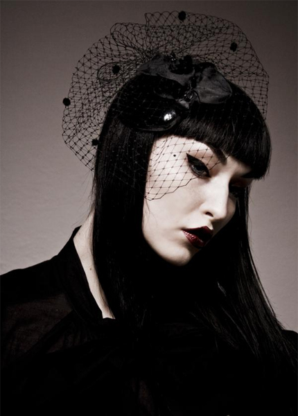 Jan 24, 2009 Koneko Photography Black PVC double orchid cocktail veil