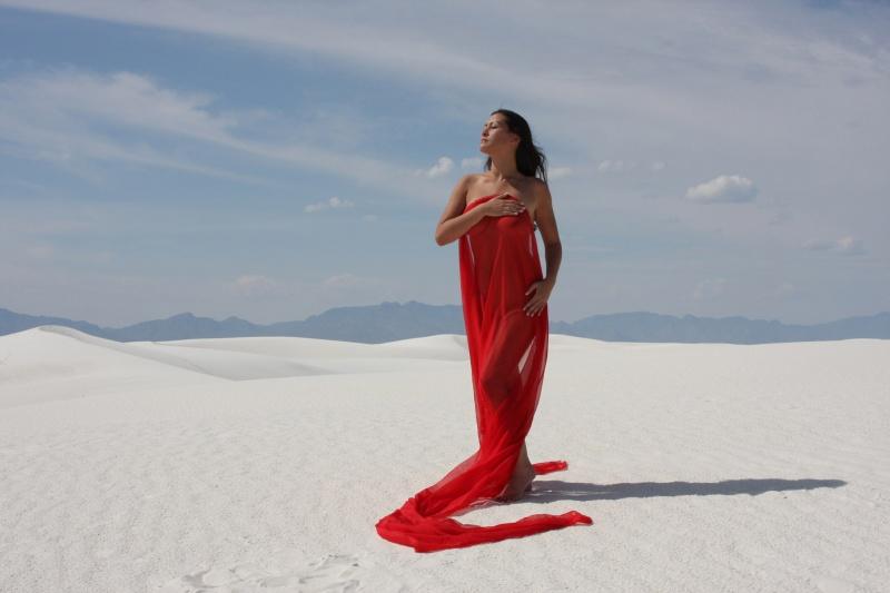White Sands, New Mexico  Oct 2008 Jan 27, 2009 Lynn Henkel Photography DarkAsia in red